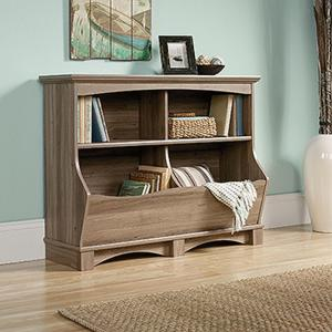 Sauder harbor view salt oak bin bookcase 420327 the home for Oak harbor furniture