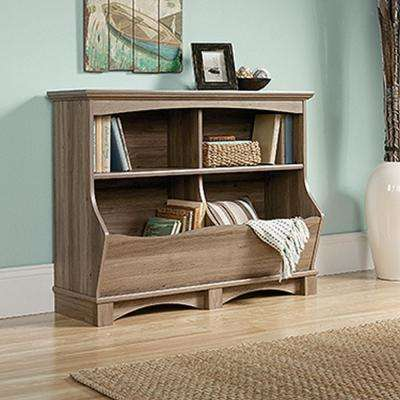 Harbor View Salt Oak Bin Bookcase