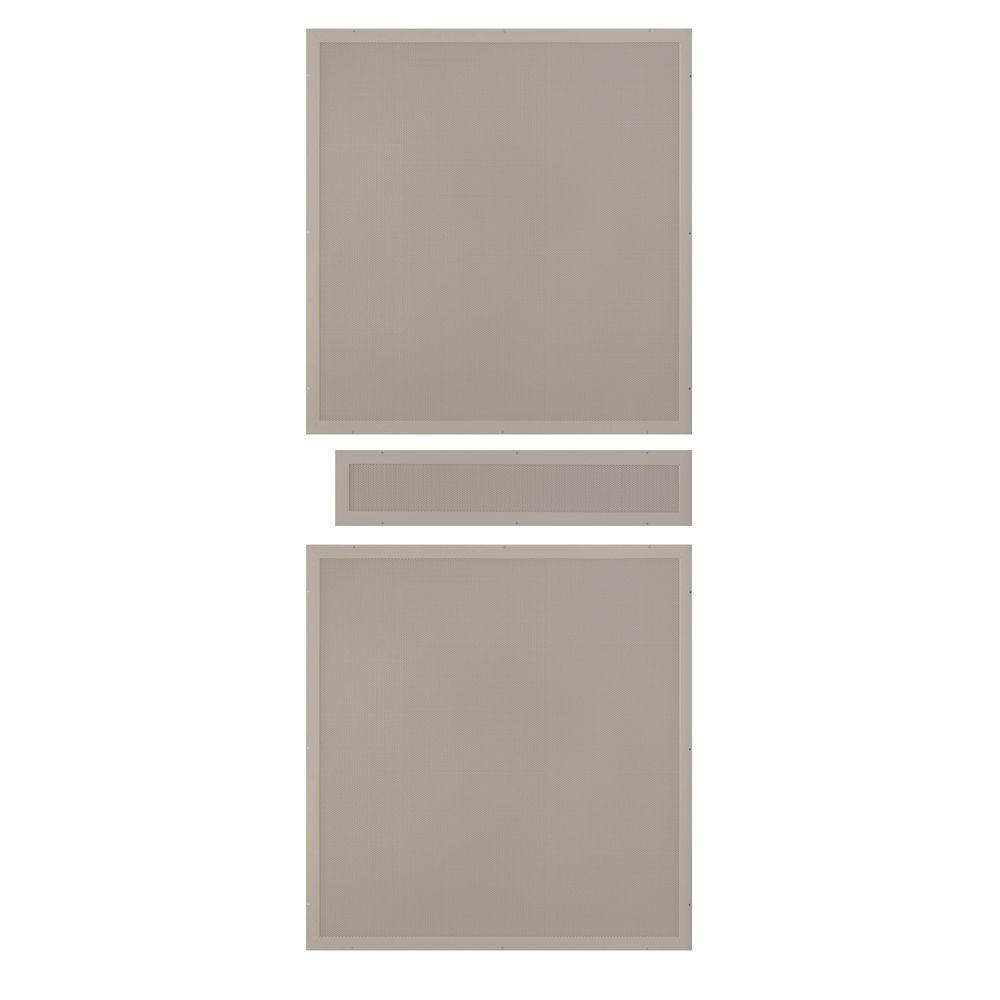 Unique Home Designs 36 in. x 80 in. Tan Perforated Rust-Free Aluminum Screen Inserts for Premium Steel Security Picket Doors (3-Piece)