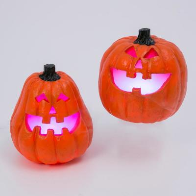 9.25 in. H Electric Smoking Vapor Jack-O-Lanterns with Color Changing Effect (Set of 2)