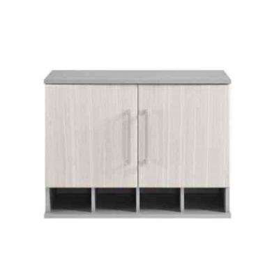 Latitude 20.9 in. H x 27.7 in. W x 11.7 in. D Wall Cabinet in Gray/Natural (1-Piece)