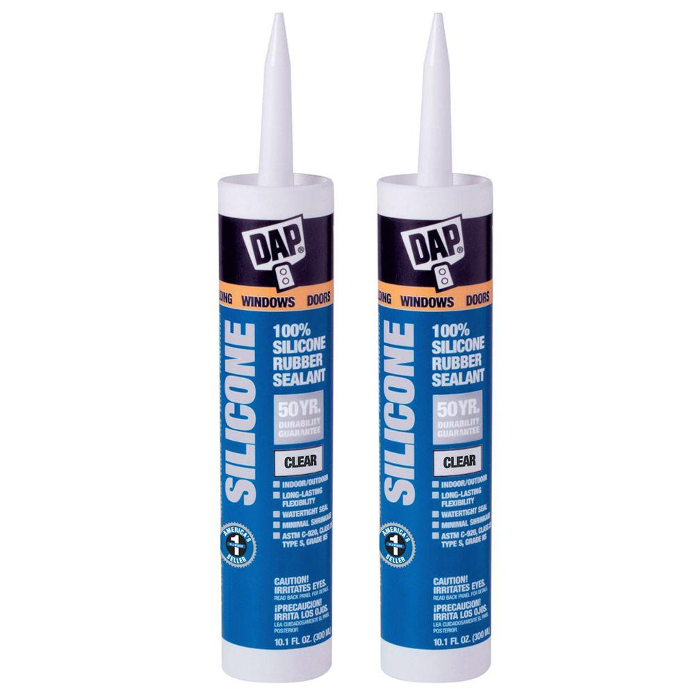 DAP 10.1 oz. Clear 100% Silicone Sealant (2-Pack)-DISCONTINUED