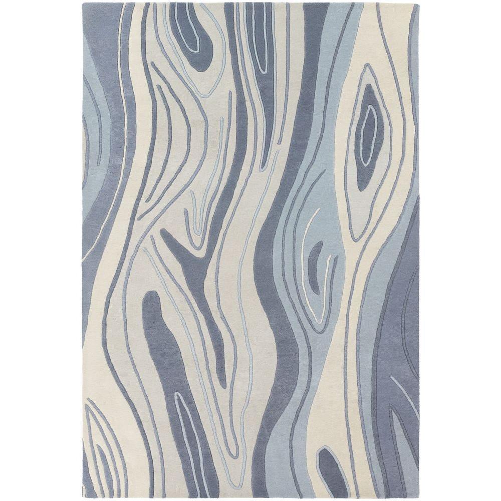Inhabit Blue/Grey/White 5 ft. x 7 ft. 6 in. Indoor Area