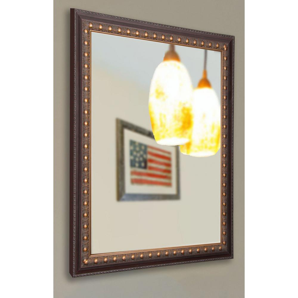 24 5 in x 30 5 in industrial bronze non beveled vanity for 4 x 5 wall mirror