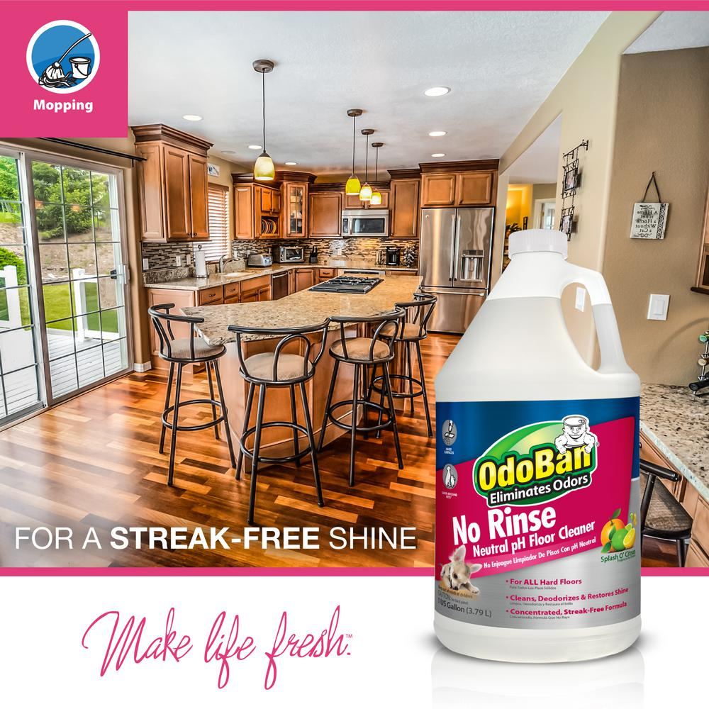 Odoban 128 Oz Floor Cleaner No Rinse Neutral Ph Stain