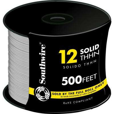 500 ft. 12 White Solid CU THHN Wire