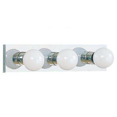Center Stage 3-Light Chrome Vanity Bar Light