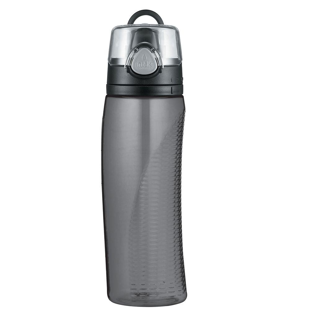 Thermos Intak 24 oz. BPA-Free Hydration Bottle with Meter, Smoke-DISCONTINUED