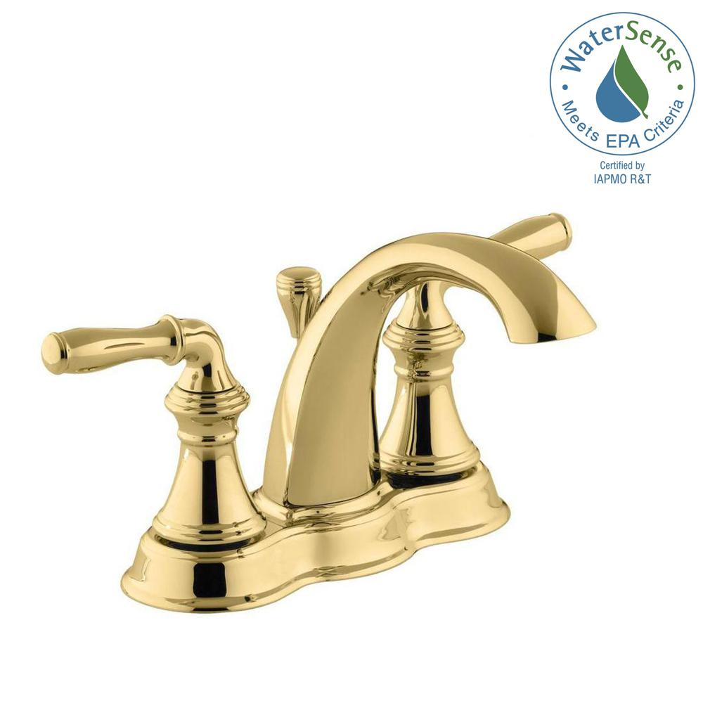 Centerset 2 Handle Mid Arc Water Saving Bathroom Faucet