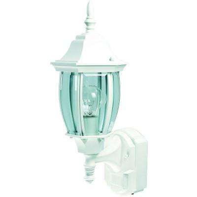 180 Degree White Alexandria Lantern with Curved Beveled Glass
