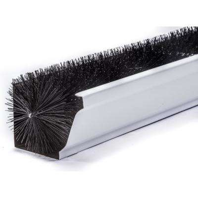 Oversize 6 In. - 3 Ft. Black Max-Flow Filter Brush Gutter Guard (4-Pack)