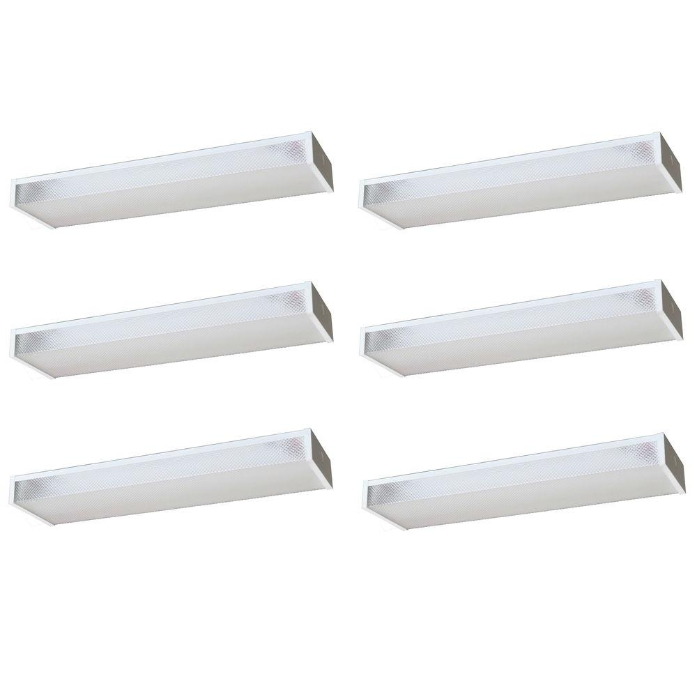 Radionic Hi Tech Wrap 24 in. Low Profile White Fluorescent Fixture (6-Pack)