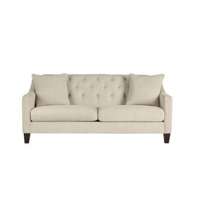 Aldergrove Powerball Biscuit Beige Straight Standard Sofa with Tufting (79.5 in. W x 34.5 in. H)