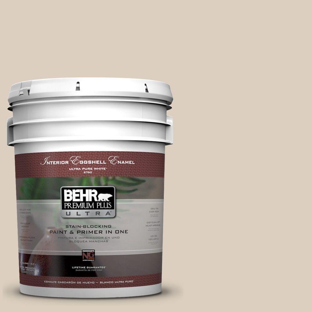 BEHR Premium Plus Ultra 5-gal. #BWC-25 Sandy Clay Eggshell Enamel Interior Paint