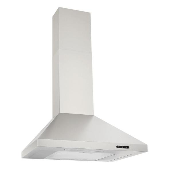 24 in. Convertible Wall Mount Chimney Range Hood with LED Light in Stainless Steel