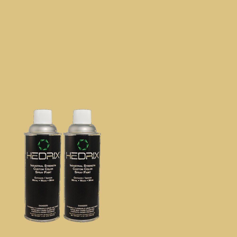 Hedrix 11 oz. Match of MQ2-18 Honey Tea Flat Custom Spray Paint (2-Pack)