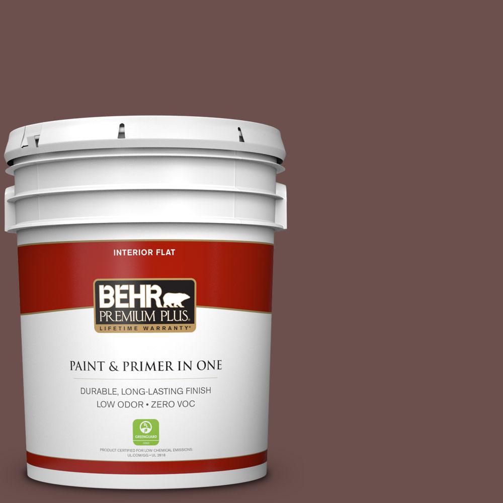 5 gal. #N170-6 Natural Bark Zero VOC Flat Interior Paint