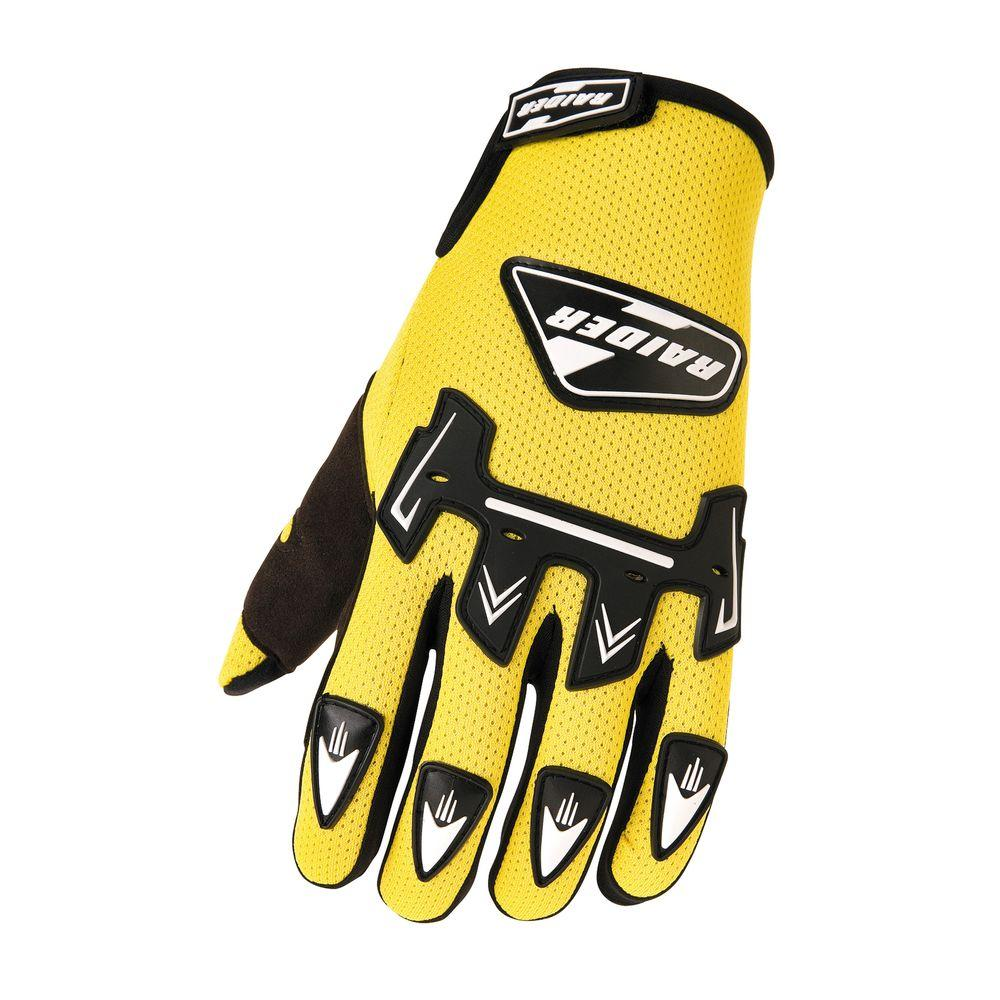 Raider Youth MX Small Glove in Yellow-DISCONTINUED
