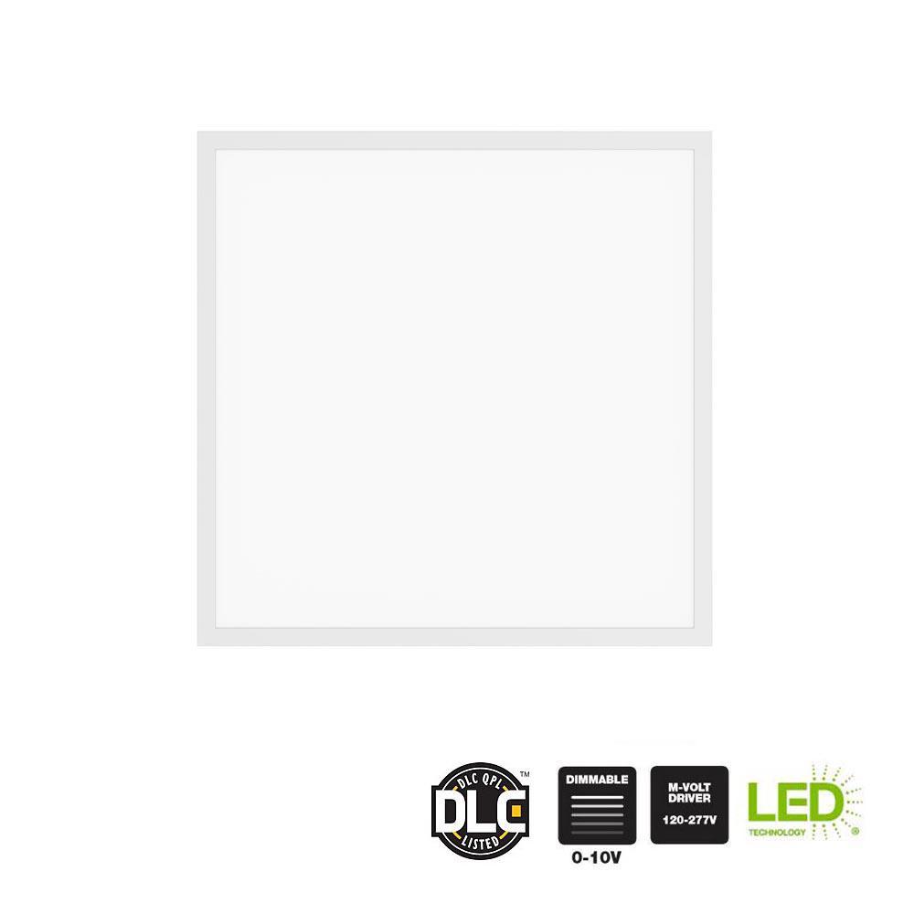 3000 Lumen 2 ft. x 2 ft. White Integrated LED Troffer Flat Panel
