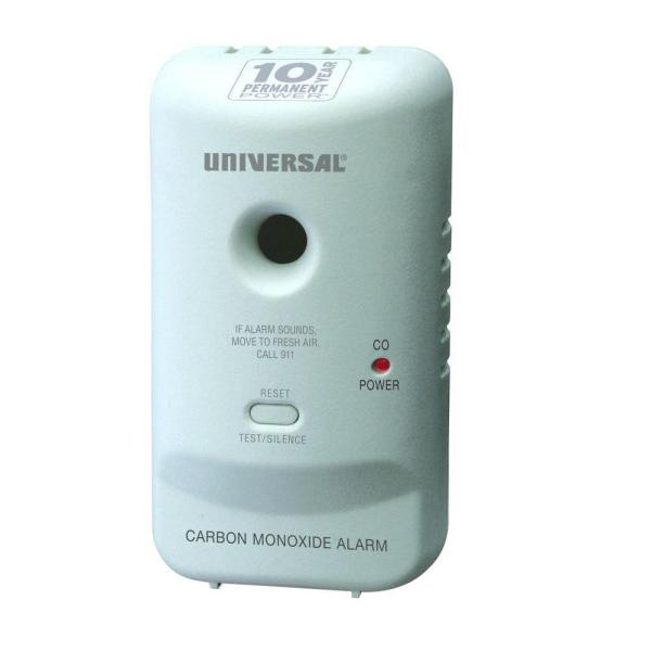 10 Year Sealed, Battery-Operated, Carbon Monoxide Detector, Microprocessor Intelligence