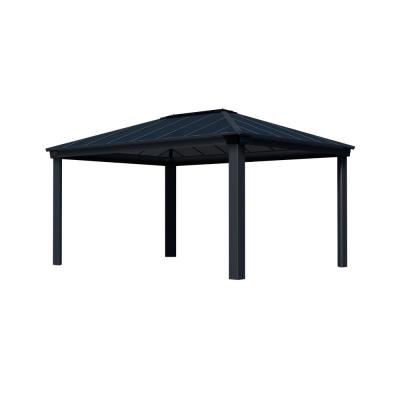 Dallas 4900 12 ft. x 16 ft. Aluminum Hardtop Gazebo with Insulating and Sleek Roof Design