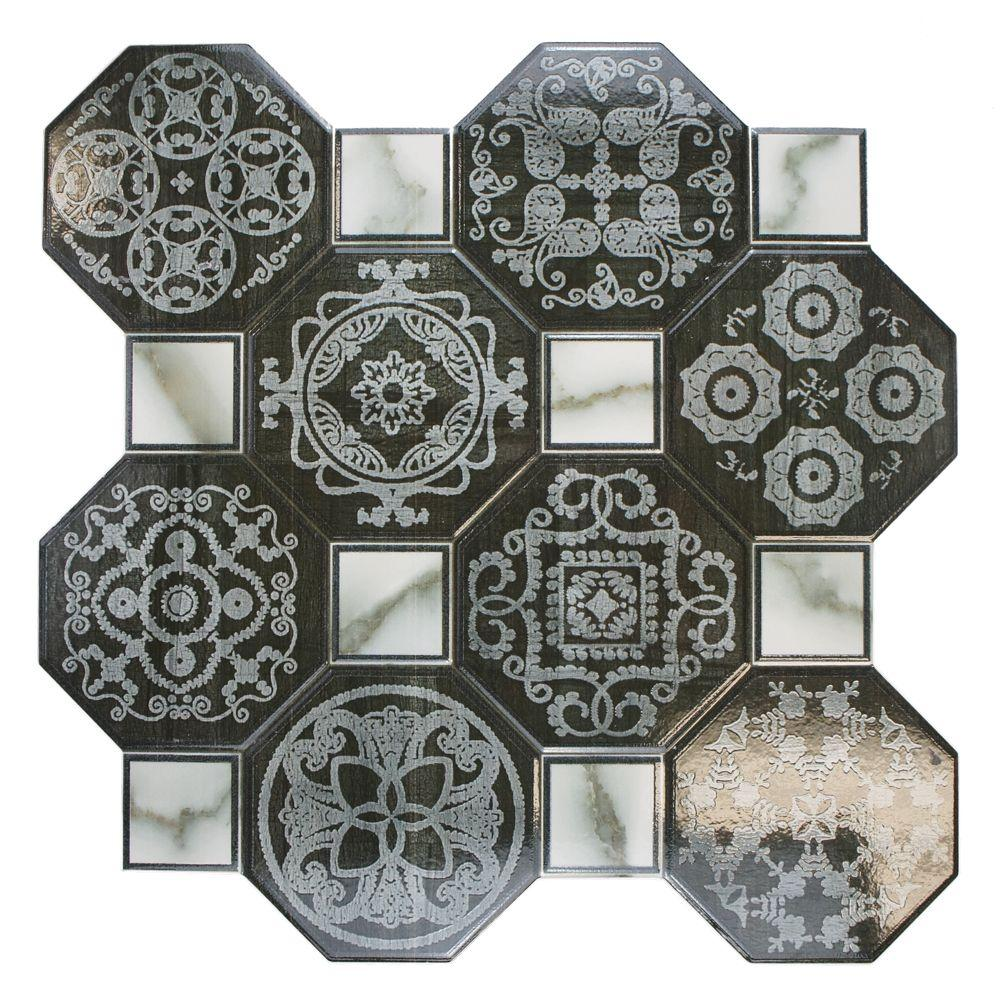 Merola Tile Ditte Nero 17-3/4 in. x 17-3/4 in. Ceramic Floor and Wall Tile (17.9 sq. ft. / case)