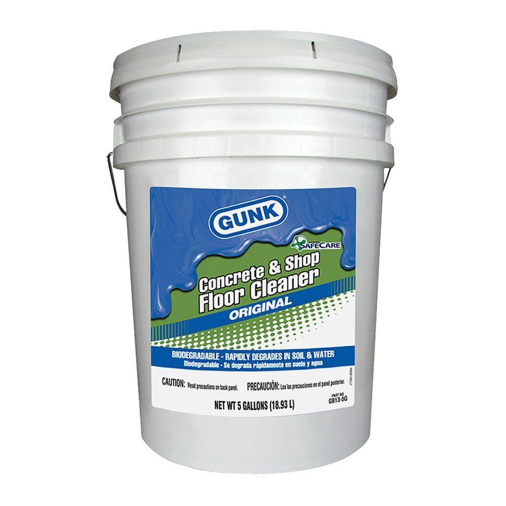 Gunk 5 gal bio based concrete and shop floor cleaner gb13 for Cement cleaning products
