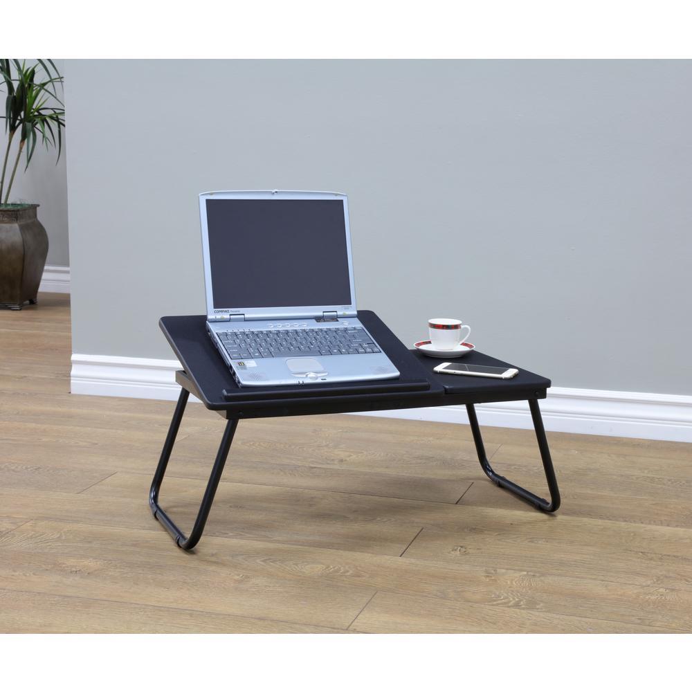 Delicieux L Black Folding Table