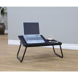 24 inch L Black Folding Table by
