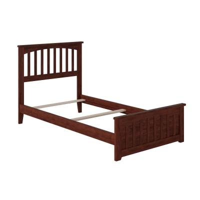 Mission Walnut Twin XL Traditional Bed with Matching Foot Board