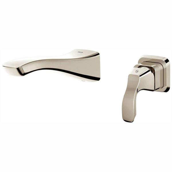 Tesla Single-Handle Wall Mount Bathroom Faucet Trim Kit in Polished Nickel (Valve Not Included)