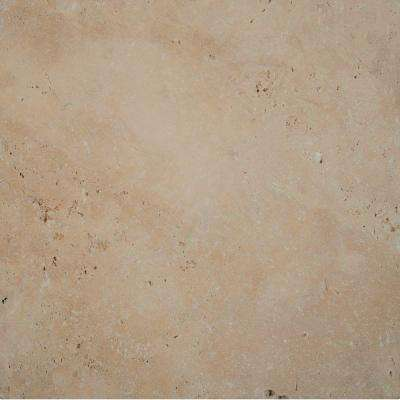 Tuscany Beige 16 in. x 16 in. Tumbled Travertine Paver Tile (20 Pieces / 35.6 Sq. ft. / Pallet)