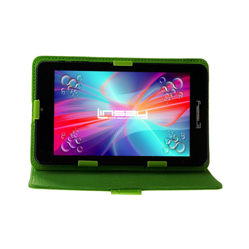 LINSAY 7 in. 2GB RAM 16GB Android 9.0 Pie Quad Core Tablet with Green Case was $119.99 now $54.99 (54.0% off)