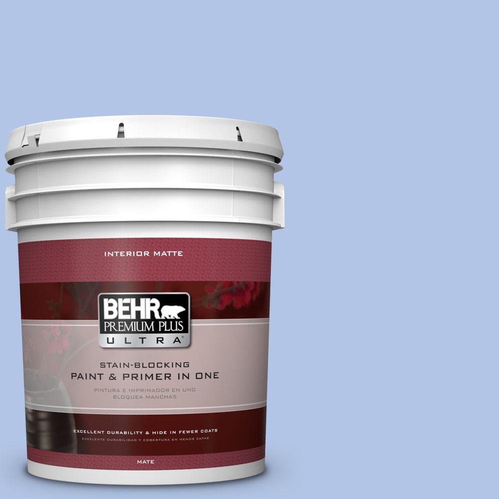 BEHR Premium Plus Ultra 5 gal. #590A-3 Beautiful Dream Flat/Matte Interior Paint
