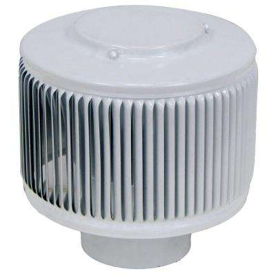 Aura PVC Vent Cap 3 in. Dia Exhaust Vent with Adapter to Fit Over 3 in. PVC Pipe in White Powder Coat