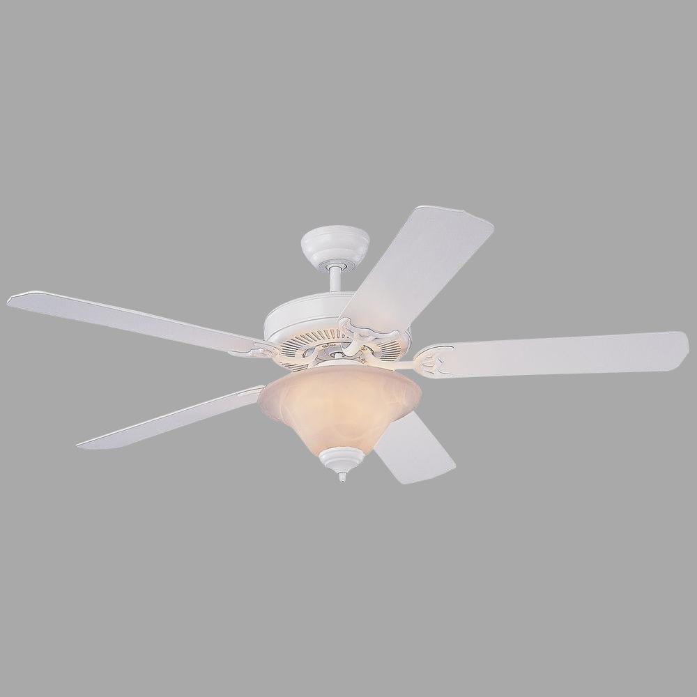 Monte Carlo Homeowners Deluxe 52 in. White Ceiling Fan