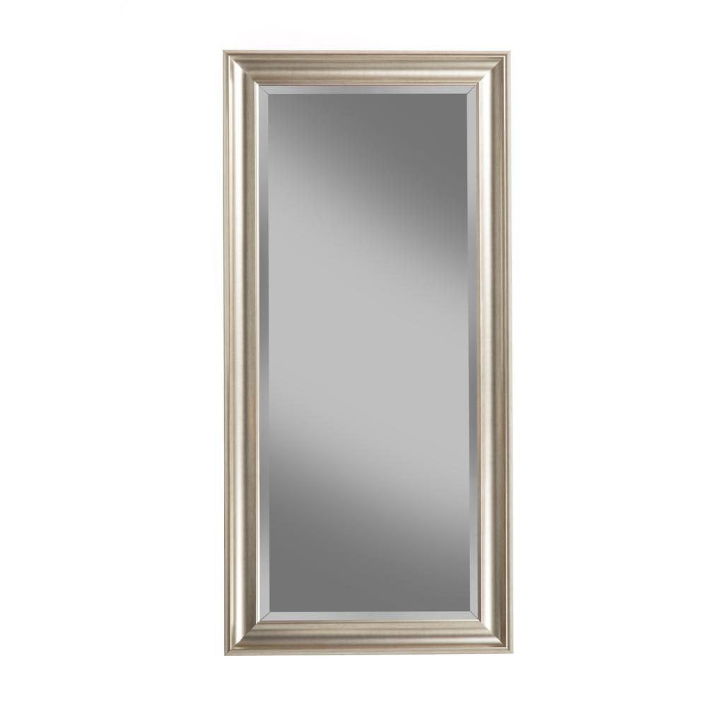 Champagne Silver Full Length Leaner Floor Mirror