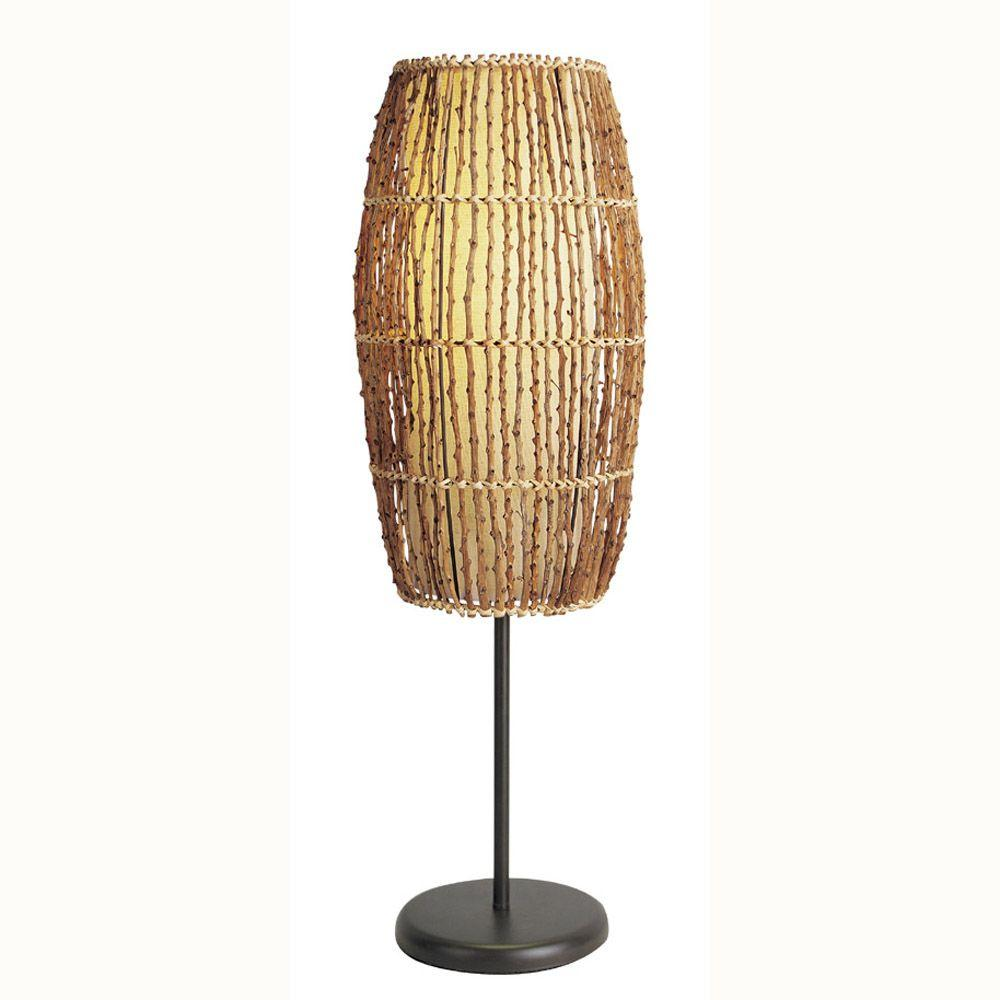 Ore international 315 in rattan natural table lamp 31140t the rattan natural table lamp aloadofball Images