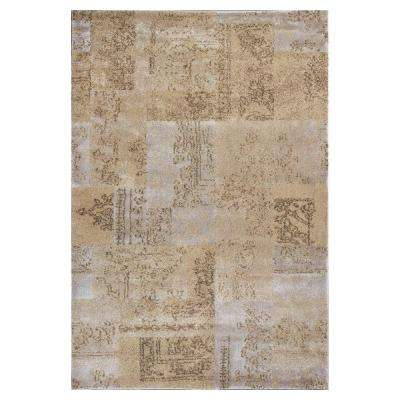 Champagne Tapestry Beige 5 ft. 3 in. x 7 ft. 8 in. Area Rug