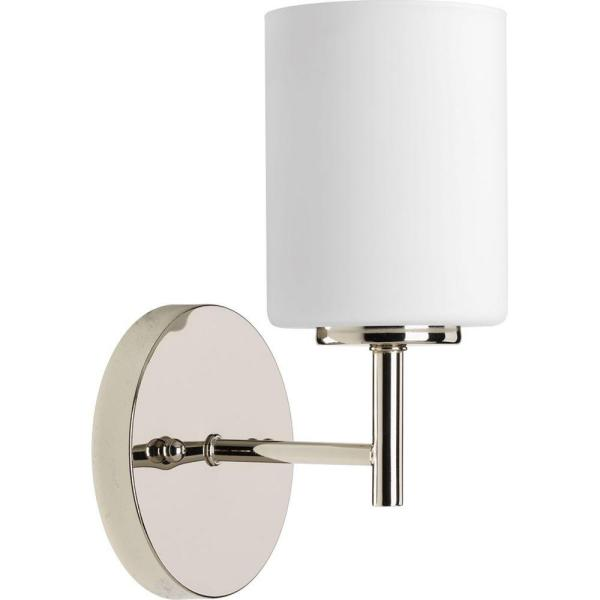Light Polished Nickel Bath Sconce
