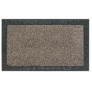 Clean Machine Filigree Welcome Earth Taupe 18 inch x 30 inch Door Mat by Clean Machine