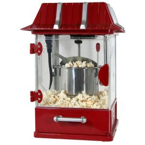 AmeriHome Vintage Theater Style Tabletop Popcorn Maker with Dishwasher Safe Tray by AmeriHome