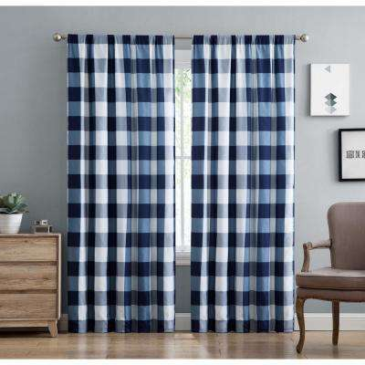 blue treatments com dark drapes panel dp stripes piece set navy nautical horizontal polyester rugby amazon curtains inch pair