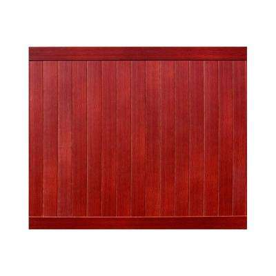 Pro Series 6 ft. H x 8 ft. W Cherry Vinyl Anaheim Privacy Fence Panel - Unassembled