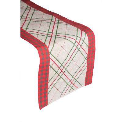 Christmas Pinstripe 100% Polyester Table Runner
