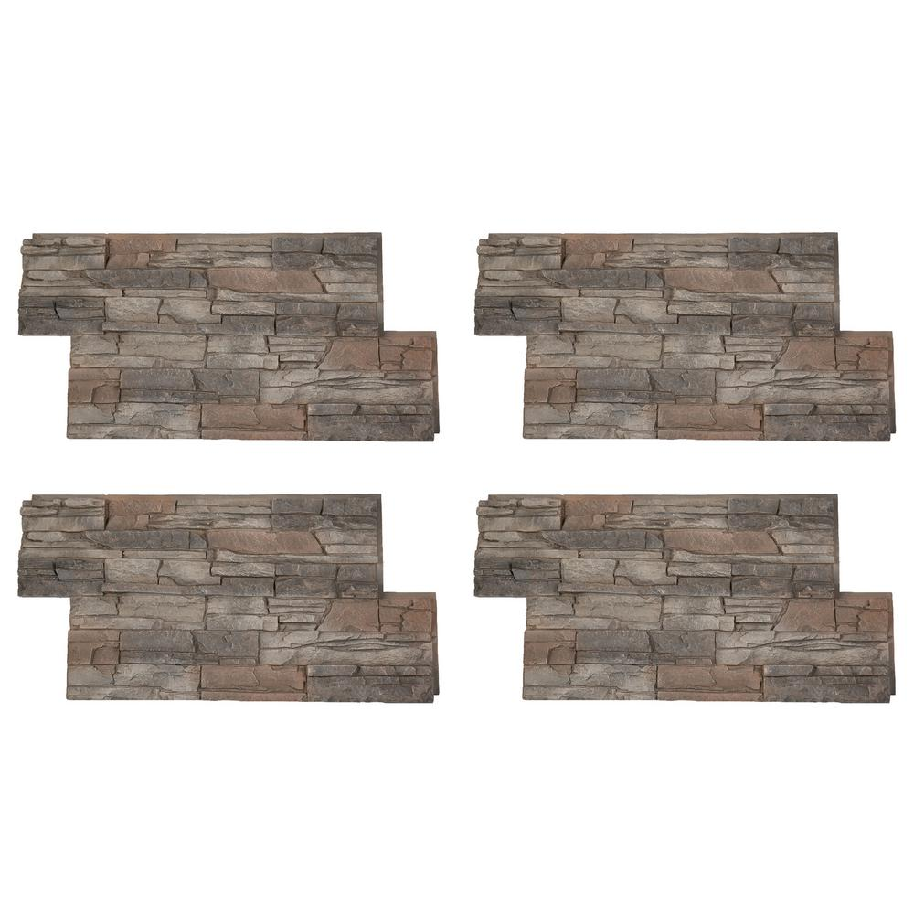 Stacked Stone 24 in. x 42 in. Kenai Faux Stone Siding