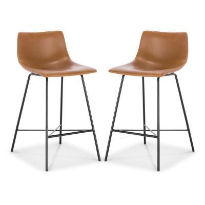 Paxton 24 Counter Stool in Tan (Set of 2)