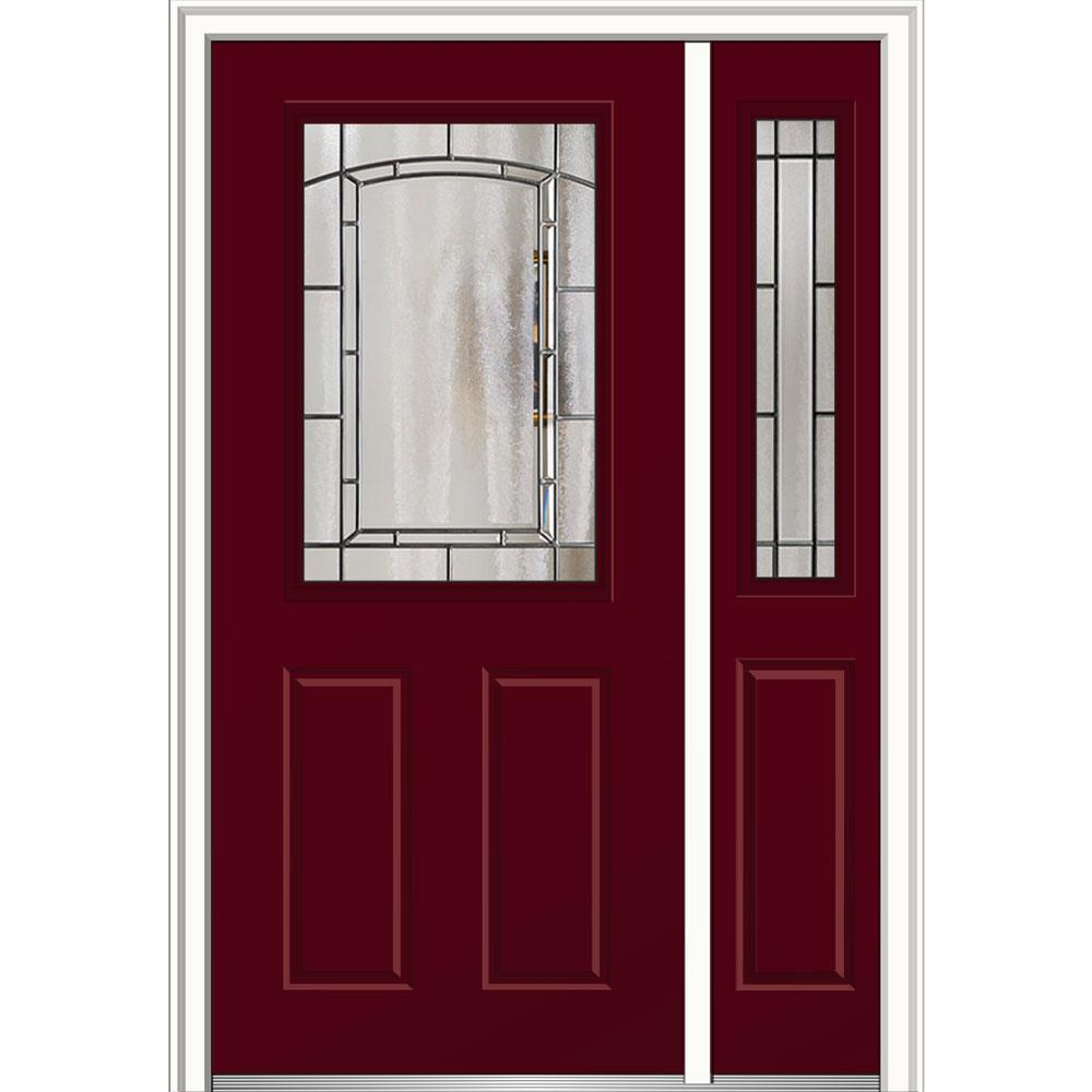 Mmi door 48 in x 80 in solstice glass right hand 1 2 for 18 x 48 window