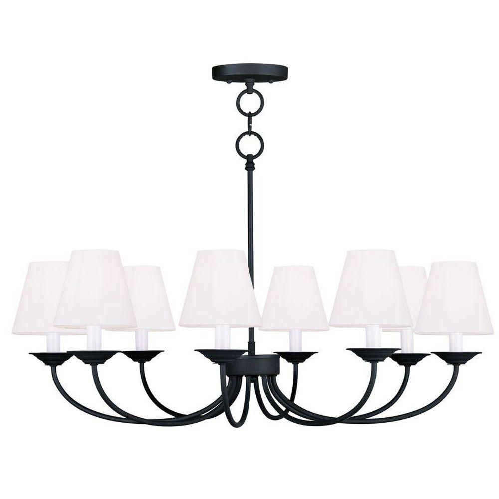 Livex Lighting Providence 8-Light Black Incandescent Ceiling Chandelier