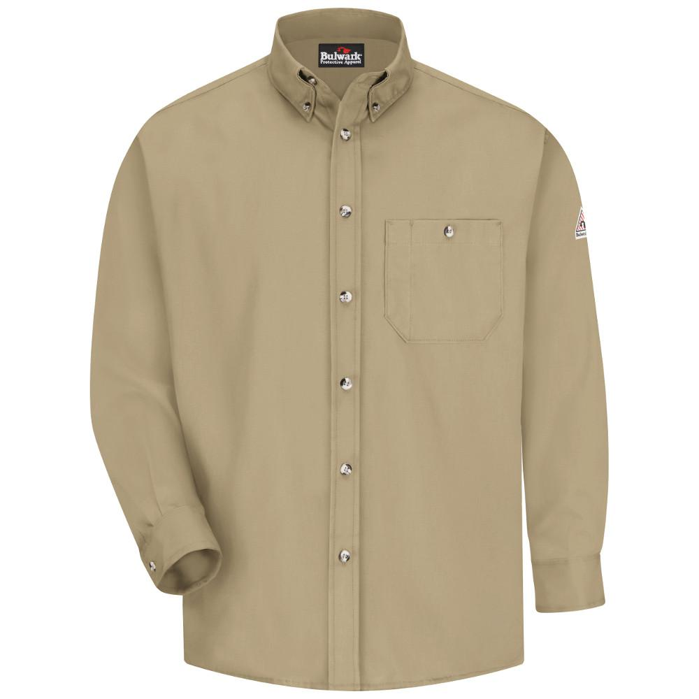 Bulwark EXCEL FR Men's 2X-Large Khaki Dress Shirt